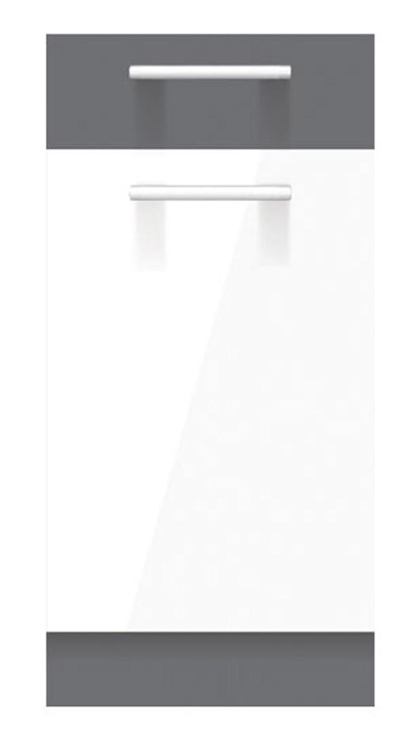 Korpuss: Rijeka gaišs. Fasāde: MDF balts pulēts / Grafīts matēts