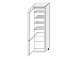Skapis iebūvējamajam ledusskapim Deep Red D14/DL/60/207