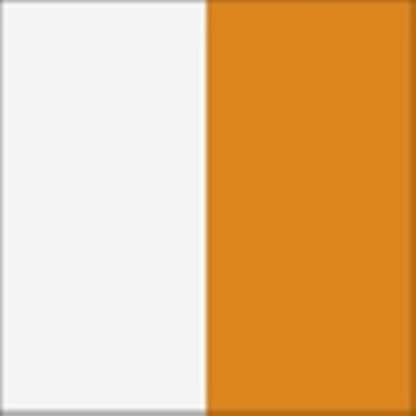 Balts / Oranžs pulēts