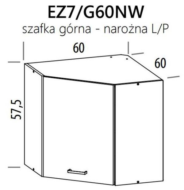 Augšējais stūra skapītis ELIZA EZ7/G60NW