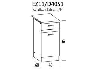 Apakšējais skapītis ELIZA EZ11/D40S1
