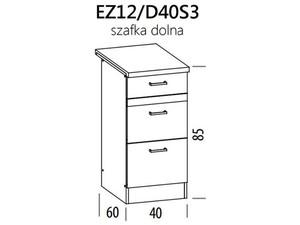 Apakšējais skapītis ELIZA EZ12/D40S3