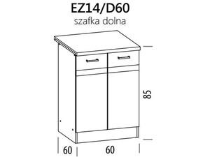 Apakšējais skapītis ELIZA EZ14/D60