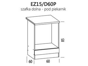 Skapis cepeškrāsnij ELIZA EZ15/D60P