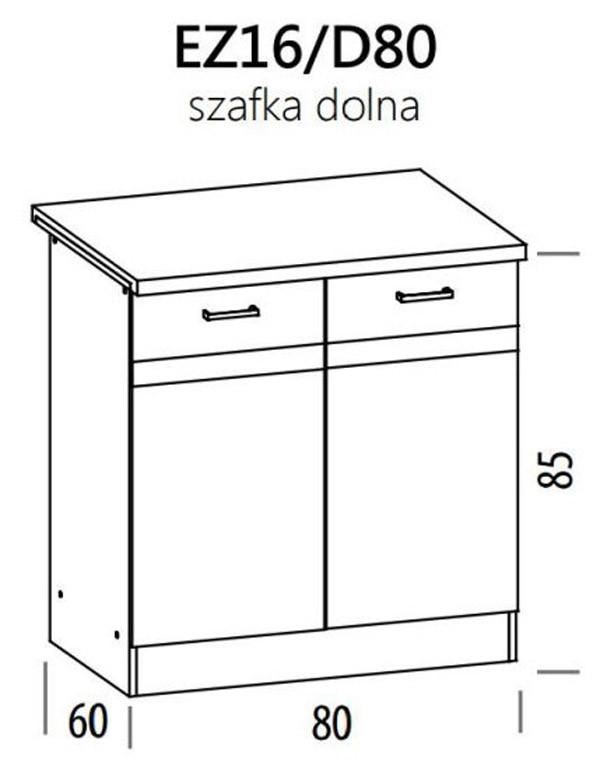 Apakšējais skapītis ELIZA EZ16/D80