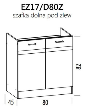 Zemizlietnes skapītis ELIZA EZ17/D80Z
