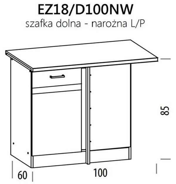 Apakšējais stūra skapītis ELIZA EZ18/D100NW