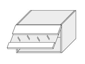 Augšējais vitrīnas skapītis SIlver Plus W4BS/60 LAM