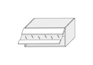 Augšējais vitrīnas skapītis SIlver Plus W4BS/80 LAM