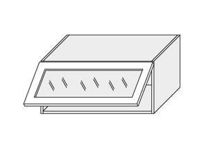 Augšējais vitrīnas skapītis Dust grey W4BS/80 WKF