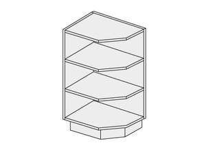 Apakšējais skapītis Fino czarne D6/30 L,P