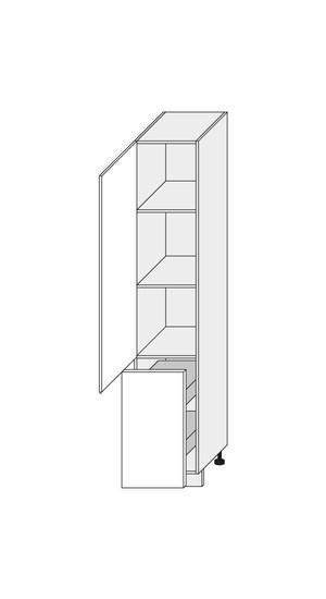 Virtuves skapītis Fino biale 2D14K/40+cargo