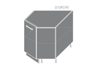 Apakšējais stūra skapītis Violet D12R/90